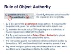 rule of object authority