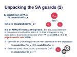 unpacking the sa guards 2