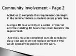 community involvement page 2