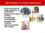 advantages of using databases
