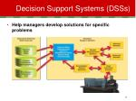 decision support systems dsss
