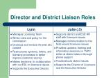 director and district liaison roles