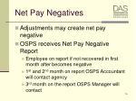 net pay negatives