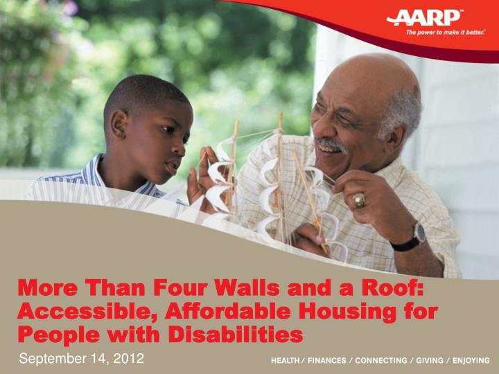 more than four walls and a roof accessible affordable housing for people with disabilities n.