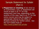 sample statement for syllabi part i