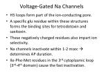 voltage gated na channels