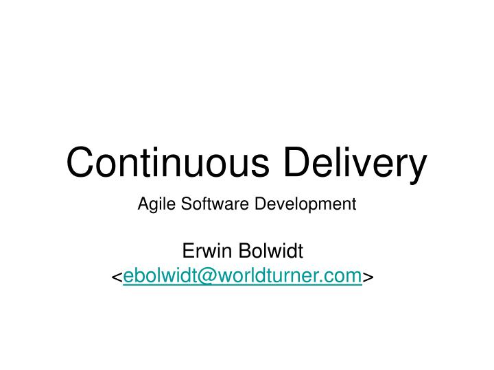 continuous delivery n.