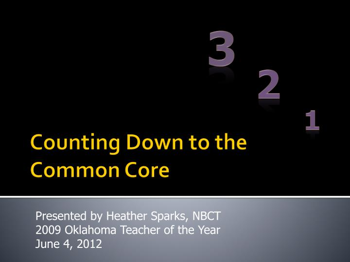 counting down to the common core n.