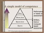 a simple model of competence