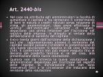 art 2440 bis