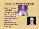 origins of medical language