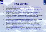 wg2 activities