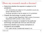 does my research needs a license