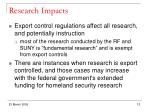 research impacts