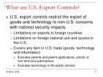 what are u s export controls