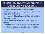 algorithm overview anomaly correction procedure