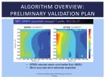 algorithm overview preliminary validation plan3