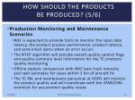 how should the products be produced 5 6