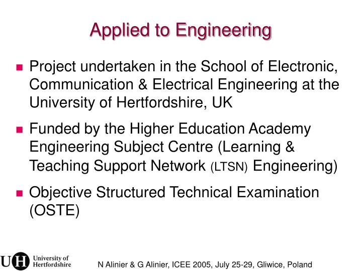 Applied to Engineering