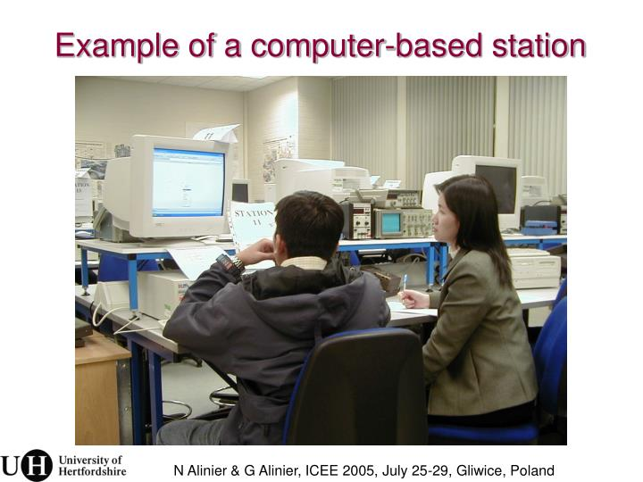 Example of a computer-based station