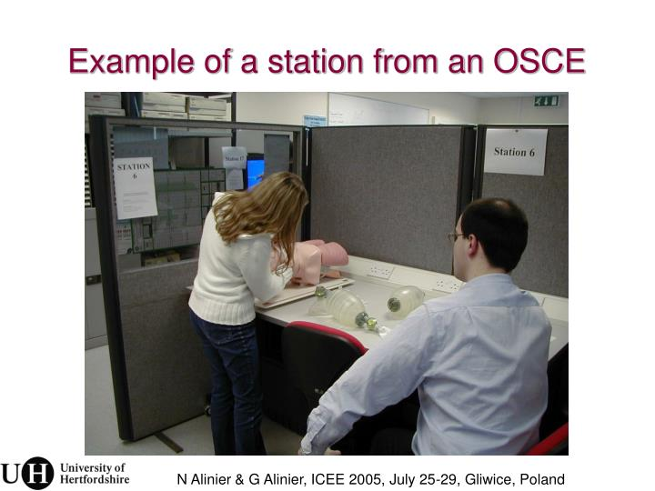 Example of a station from an OSCE