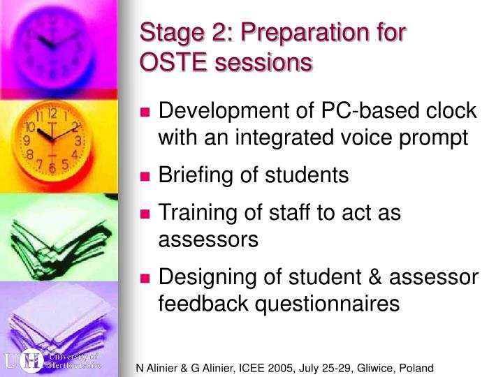 Stage 2: Preparation for OSTE sessions