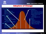 adopters of change