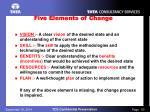 five elements of change