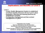 implications and benefits at level 2