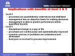 implications with benefits at level 4 5