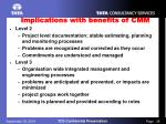 implications with benefits of cmm