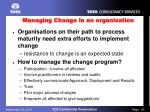 managing change in an organisation