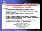 proposed roadmap for achieving higher maturity levels contd2
