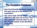 the emission database