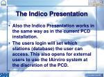 the indico presentation