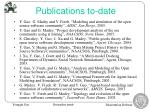 publications to date