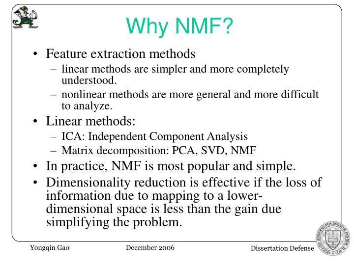 Why NMF?