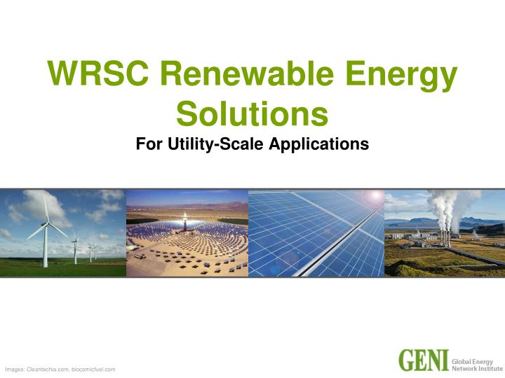wrsc renewable energy solutions for utility scale applications n.