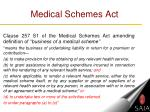 medical schemes act