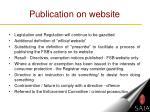 publication on website