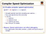 compiler speed optimization