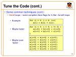 tune the code cont1