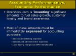 accounting performance vs economic performance