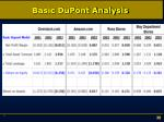 basic dupont analysis