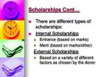 scholarships cont