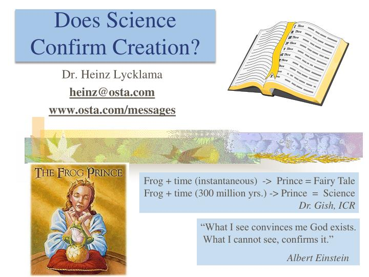 does science confirm creation n.