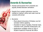 awards bursaries