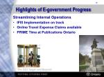 highlights of e government progress