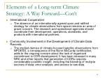 elements of a long term climate strategy a way forward con t