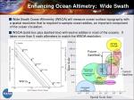 enhancing ocean altimetry wide swath
